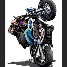 When I was pulling together a massive list of Motorcycle Stunt Names, I came across a couple really good artists. scaronistefano is one of them. Looks like he has been at it for a few years. Badass Motorcycle Artwork:     Check him out on Instagram.