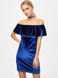 SHARE & Get it FREE | Velvet Crepe Bardot Bodycon Mini Dress - RoyalFor Fashion Lovers only:80,000+ Items • New Arrivals Daily Join Zaful: Get YOUR $50 NOW!
