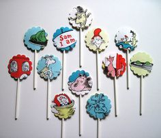 Image detail for -GREEN EGGS and HAM - Dr. Seuss - Cupcake Toppers - Set of 12