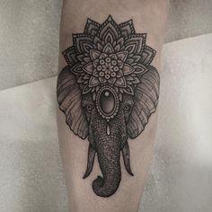 Hindu Elephant Tattoo Más