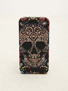 Rubber iPhone 4/5 Case in Henna Skull