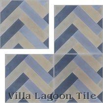 Herringbone Cement Tile in Stock | Villa Lagoon Tile, can custom order in your colors