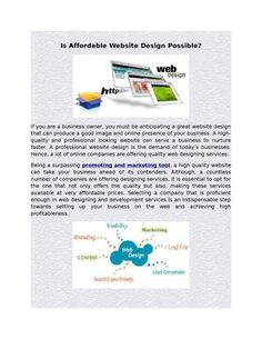 Is affordable website design possible http://issuu.com/adendowey/docs/is_affordable_website_design_possib