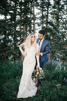 modest wedding dress with long lace sleeves and a sculpted, sexy fit from alta moda.    --photo: blush by brooke  --