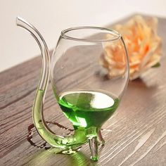A wine cup that has a built in straw for when you really can't use your hands.