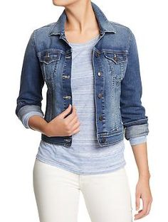 Cropped Denim Jackets For Women - JacketIn