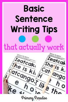 These hands on lessons are a simple way to teach your kindergarten and first grade students how to write a simple sentence with capitalization, punctuation, and a complete thought. Guided Reading Organization, Guided Reading Activities, Back To School Organization, Teacher Organization, Teacher Hacks, Writing Curriculum, Kindergarten Writing, Writing Lessons, Writing Ideas