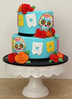 With Dia de los Muertos celebrations finishing up this past weekend I though I should get in and quickly share this themed wedding cake I...