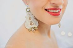 Wedding earring - soutache http://www.weddingproject.eu photo: Made with love photography