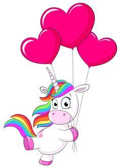 Unicorn Drawing, Unicorn Art, Cute Unicorn, Easy Disney Drawings, Kawaii Drawings, Easy Drawings, Unicorn Images, Unicorn Pictures, Horse Balloons