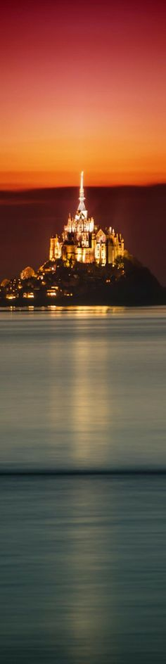"☆ An amazing Abbey in France where the sea rolls in at night to form an island - From the Exhibition: ""Cropped for Pinterest"" -::- Photo from Trey Ratcliff ☆"