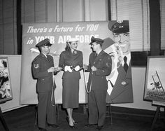 Colleen Kay Hutchins, Miss America of 1952, at an Air Force ribbon cutting ceremony.