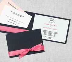 pink and black invites