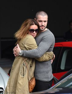 Cuddling co-stars. Alison King and Shayne Ward shared a warm embrace as they arrived in Manchester Carla Connor, Coronation Street Cast, Shayne Ward, Alison King, Manchester, It Cast, Warm, Actors, Soaps