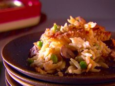 Baked Orzo with Fontina and Peas recipe from Giada De Laurentiis via Food Network
