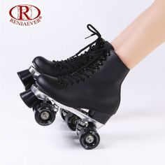 Online Shop RENIAEVER Double row skate polyurethane wheels double row roller skates leather Base of aluminium alloy skating shoe ,white Retro Roller Skates, Roller Skate Shoes, Quad Roller Skates, Roller Skating, White Roller Skates, E Skate, Derby Skates, Kawaii Shoes, Aesthetic Shoes