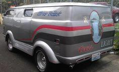 i would start drinking coors just to have this. Custom Paint Jobs, Custom Vans, Chevy Vans, Vanz, Day Van, Cool Vans, Speed Bike, Silver Bullet, Vintage Vans