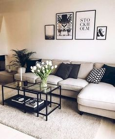67 inspirational modern living room decor ideas for small apartment you will like it 3 Living Room Decoration apartment living room decor Small Living Rooms, Home And Living, Modern Living, Cozy Living, Simple Living, How To Decorate Small Living Room, Living Dining Combo, Living Place, Luxury Living