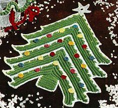 Christmas Tree Potholder pattern by American Thread Company