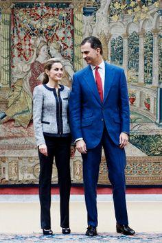 King Felipe and Queen Letizia attended a meeting with representatives of institutions of social solidarity at Palacio de El Pardo in Madrid.