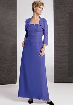 Alluring Blue Flat Beading Ruched Ankle Length Chiffon Mother of Groom Dresses ,Mother of Bride Dresses,