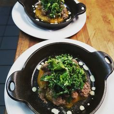 Sausages with kale and ramps
