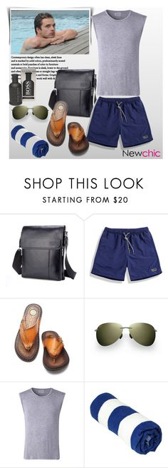 """NEWCHIC"" by newoutfit ❤ liked on Polyvore featuring Sebastian Professional, Maui Jim, BOSS Hugo Boss, men's fashion and menswear"