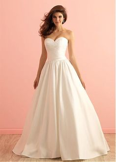 Elegant Satin Sweetheart Neckline A-line Wedding Dress