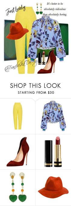 """Who Did That? 2-4-18"" by francheskadarling ❤ liked on Polyvore featuring Delpozo, TIBI, Gucci and Rhythm."
