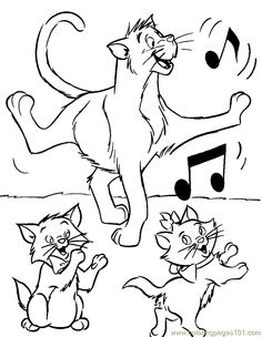 aristocats coloring pages free printable disney coloring sheets for kids