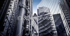 Słynny skysrcapers w londyńskiej dzielnicy finansowej — Zdjęcie stockowe © quixoticsnd #13315886