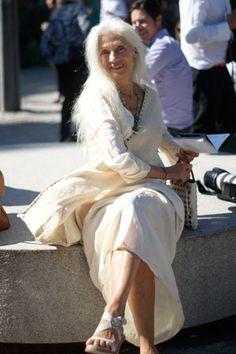 Stockholm Fashion Week SS14 white hair