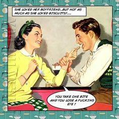 Items Similar To Retro Birthday Card For Her Girlfriend Wife Funny Rude Biscuit Lovers On Etsy