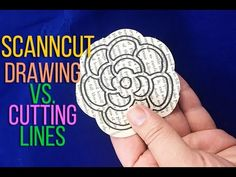 ScanNCut Technique: Setting Drawing & Cutting Lines - YouTube