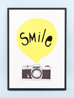 Smile print by Kerry Layton.A print of an original pen and ink drawing, digitally coloured. Printed on 100% cotton 285gsm fine art paper with a smooth finish.Size A3 (42cm x...