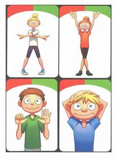 Gross Motor Activities, Preschool Learning Activities, Team Building Activities, Gross Motor Skills, Teaching Kids, Kids Learning, Brain Gym For Kids, Yoga For Kids, Exercise For Kids
