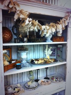 Lovely vintage display in Angie's space at The Rusty Chandelier