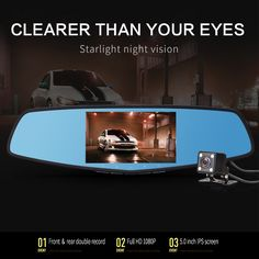 "59.99$  Buy here - http://ali0ug.worldwells.pw/go.php?t=32785554450 - ""2017 Starlight Night Vision Car Dvr 5"""" Screen Camera Review Mirror DVR Digital Video Recorder Auto Camcorder Dash Cam FHD 1080P"" 59.99$"