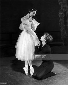 February 19, 1962. Margot FONTEYN and Rudolf NUREYEV rehearsing the ballet 'GISELLE' at the Royal Opera House in London.