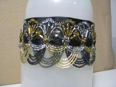 One of a kind fancy martingale dog collar.