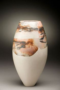 Ceramics by June Ridgway at Studiopottery.co.uk - 2011. w 200mm burnished, saggar fired