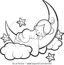 little girl in the moon in honor of my cousin jamie - Coloring Pages Stars Moons