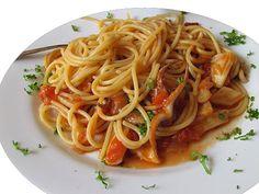 Μακαρονάδα του ψαρά Italian Language, Spaghetti, Pasta, Greek Beauty, Ethnic Recipes, Food, Noodles, Meals, Noodle