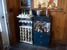 Our Home Bar: Repurposed Steamer Trunk - Hannah and HusbandHannah ...