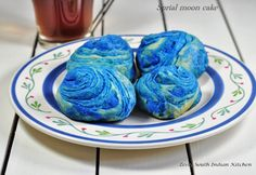 Chinese Spiral Moon Cake (Teochew style mooncakes) with Savory Mung Bean Filling; IFC challenge 1 - Zesty South Indian Kitchen