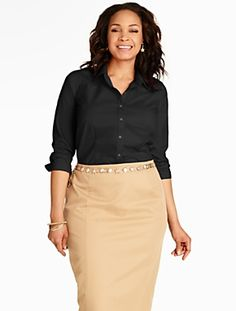 Talbots - The Perfect Three-Quarter Sleeve Shirt | Blouses and Shirts |