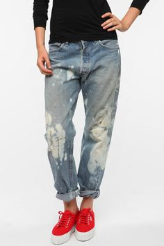 Urban Renewal Distressed Levi's Jean  #UrbanOutfitters  ($50 bucks for a pair of DeLaura's pants...)