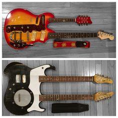 Crazy guitar combos: a rebuilt Tennessee Mando/Guitar & Nutter Custom Guitar/Banjo