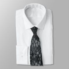 Stylized Plant Pattern 020818 - White on Black Neck Tie - black and white style stylish cool unique customize cyo Preppy, Hipster Vintage, Tam O' Shanter, Tree Of Life Art, Golden Retriever Mix, Retriever Puppies, Black Neck, Camo Patterns, Custom Ties