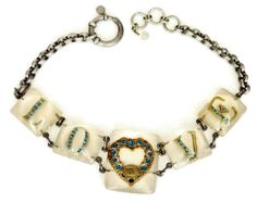 Vintage Jean Paul GAULTIER LOVE Lucite Necklace by VintagEnMode